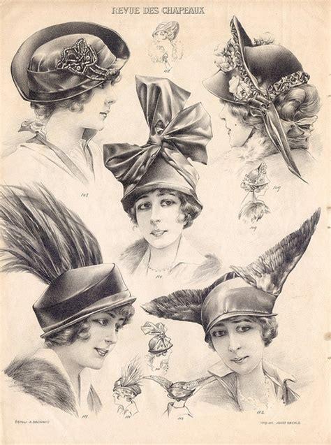Illustration Vintage Hats
