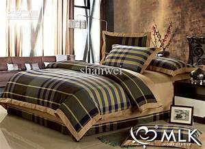 Top Quality Yarn Dyed 100 Cotton Man Plaid Duvet Cover