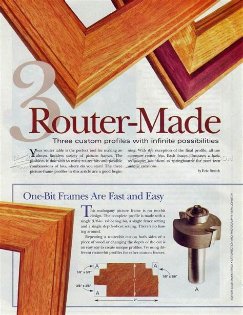 router  picture frame woodarchivist