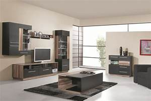 Meuble Salon Noir : meuble de rangement mural 1 porte vente salon pas cher ~ Teatrodelosmanantiales.com Idées de Décoration