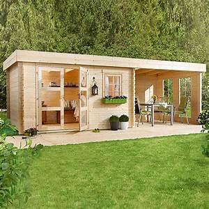 Gartenhaus Mit Lounge : blockbohlenhaus lounge 3 holz grundfl che 14 5 m wandst rke 28 mm bauhaus ~ Indierocktalk.com Haus und Dekorationen