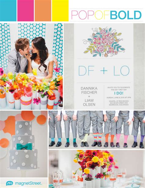 fresh bold wedding colorsfresh bold wedding colors