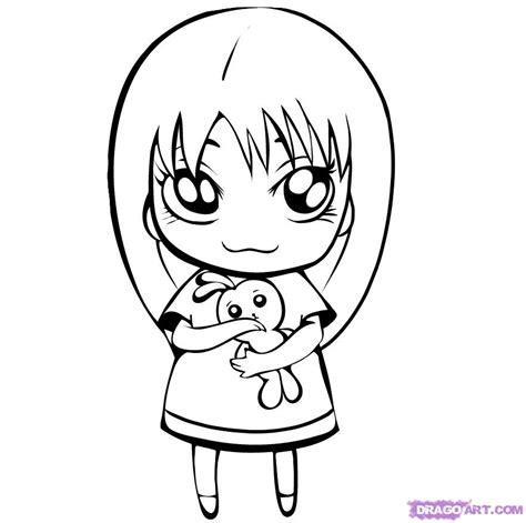 step    draw  cute girl
