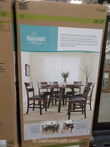 Bayside Furnishings 7 Piece Counter Height Dining Set