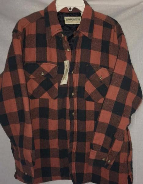 flannel shirt jacket with quilted lining wilderness plaid flannel quilted lined shirt jacket mens