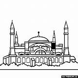 Sophia Hagia Coloring Istanbul Clipart Pages Famous Turkey Places Sketch Sofia Drawing Mosque Landmarks Thecolor Drawings Landmark Sketches Designlooter Santa sketch template