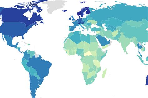 A Map Of The World's Happiest Countries Indy100