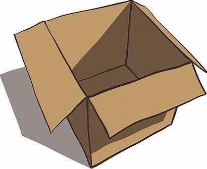 Box Clipart Empty Schachtel Cartoon Clip Open
