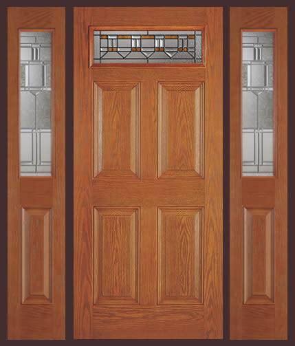 entry prehung  panel top lite fiberglass door   sidelights