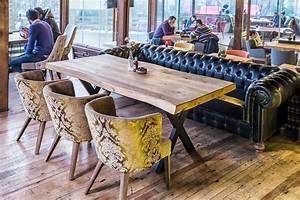 Table Bois Brut : table bois brut pour restaurant lyon oz concept ~ Teatrodelosmanantiales.com Idées de Décoration