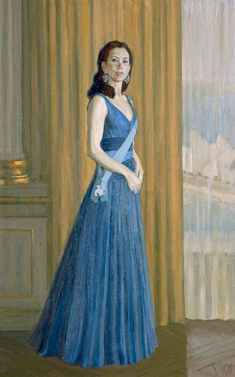 study  commissioned portrait  hrh crown princess mary