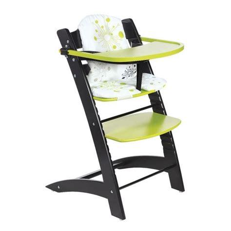 chaise bébé évolutive badabulle chaise haute evolutive noir anis noir et anis