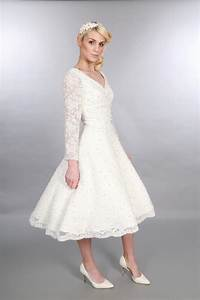 25 of the most beautiful tea length short wedding dresses With long sleeve short wedding dresses