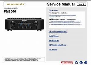 Marantz Pm8006 Service Manual    Marantz Receivers