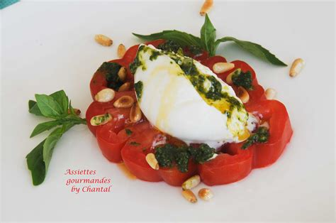 recettes cuisine corse burrata salade tomates mozzarella pesto de basilic