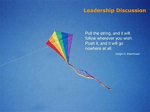 Good leadership... Pull String Quotes