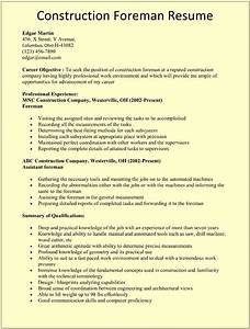construction foreman resume template for microsoft word With construction resume template