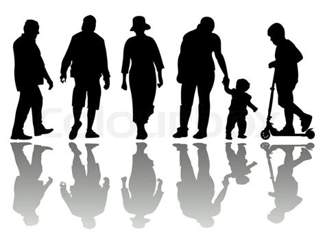 people black silhouettes   white background