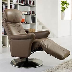 Fauteuil Relax Design Contemporain : fauteuil relax marron maison design ~ Teatrodelosmanantiales.com Idées de Décoration