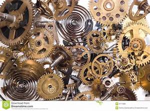 Parts Of Clock Stock Photo  Image Of Hour  Industrial