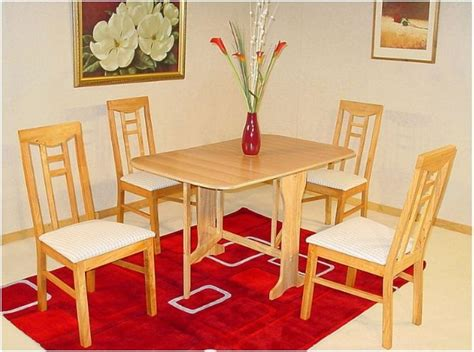 gateleg folding dining room set table and 4 chairs ebay
