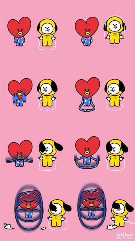 Tata Backgrounds by Bts Wallpaper Kimtaehyung Bt21 Tata Bt21