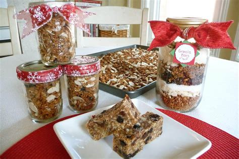 christmas food gifts healthy homemade granola gifts in a jar keeper of the home