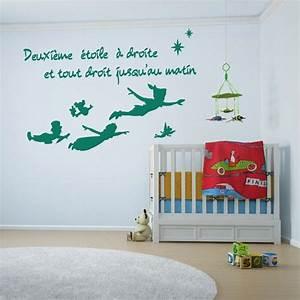 Adhesif Mural En Relief : sticker mural peter pan deuxi me toile d comotif ~ Premium-room.com Idées de Décoration