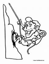 Coloring Rock Climber Climbing Mountain Climb Pages Colormegood Rockclimbing Sports sketch template