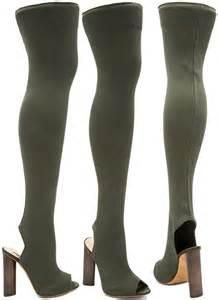womens yeezy boots flaunts in yeezy season 2 high knit boots