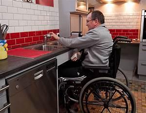 Plan De Travail Com : plan de travail handicap exemples de r alisations en photo ~ Melissatoandfro.com Idées de Décoration