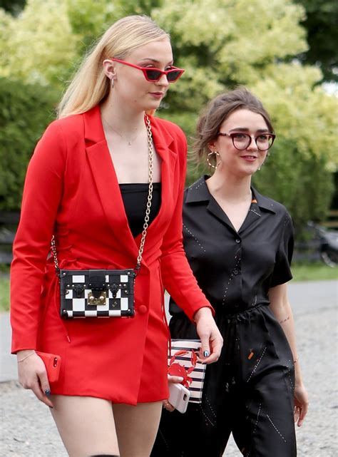 Sophie Turner and Maisie Williams arrive at the wedding of ...