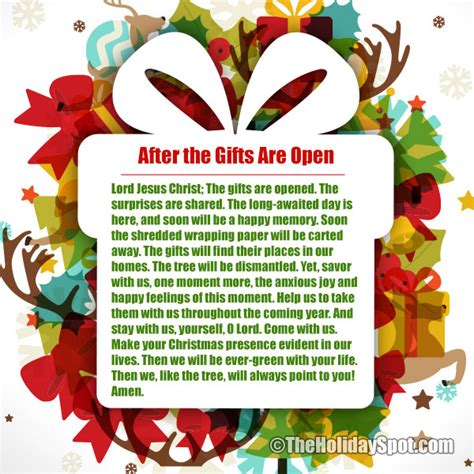prayers before opening gifts and presents