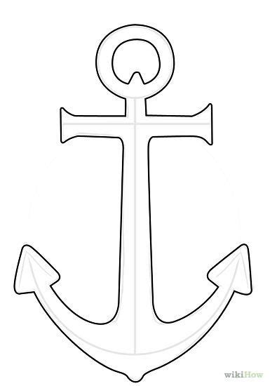 anchor template anchor drawing simple search gifts anchor drawings and anchor