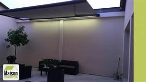 Store Banne Avec Coffre : installation d 39 un store banne coffre motoris avec clairage led youtube ~ Nature-et-papiers.com Idées de Décoration