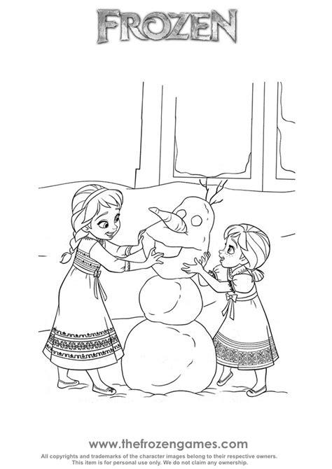 build  snowman frozen games