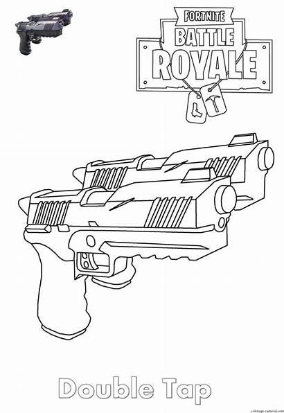 Fortnite Coloriage Coloring Dessin Tap Double Armes