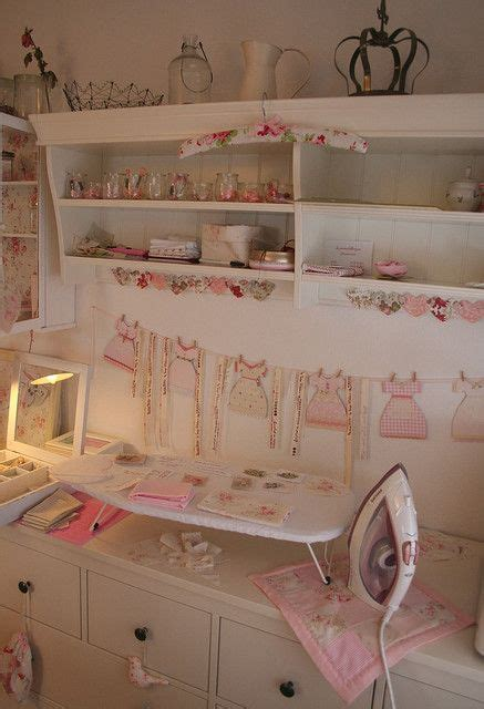 shabby chic sewing room ironing station craft rooms and crafts on pinterest