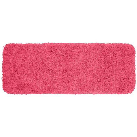 pink bathroom rugs garland rug jazz pink 22 in x 60 in washable bathroom