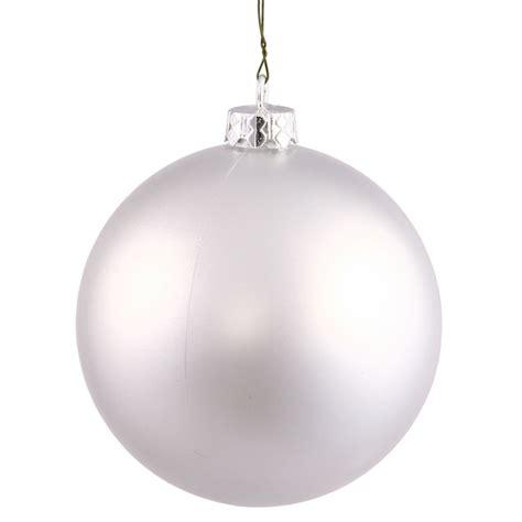 vickerman 24930 3 quot silver matte ball christmas tree