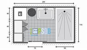 plan exemple de plan de salle de bain de 5m2 With plan a carreler salle de bain