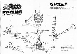 Exploded View Of The Picco  26  P3-monster  Ofna  Wasp