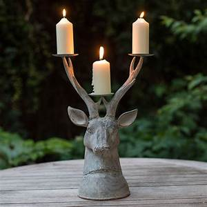 Grand, Stag, Head, Candle, Holder, By, The, Flower, Studio