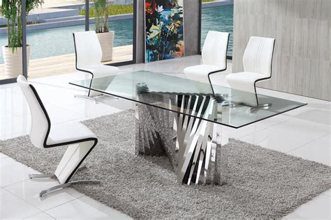 dining room luxury design table glass dining room