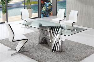 Modern Glass Dining Tables : Decorating Ideas for Glass