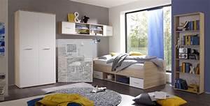 Schrank Regal Weiß : jugendzimmer set nanu 4tlg komplett bett schrank regale eiche wei ebay ~ Orissabook.com Haus und Dekorationen