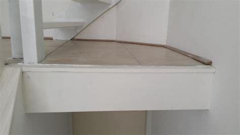 overgang trap laminaat laminaat vloer leggen rondom convectorput en overgangen