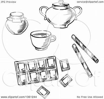 Sugar Bowl Coffee Bar Clipart Chocolate Jar