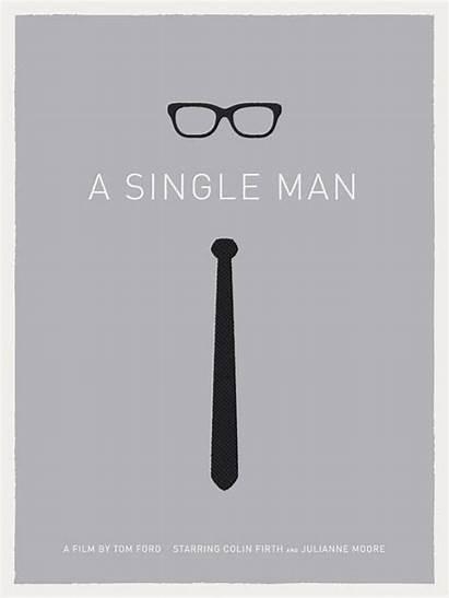 Single Poster Movie Colin Firth Glasses