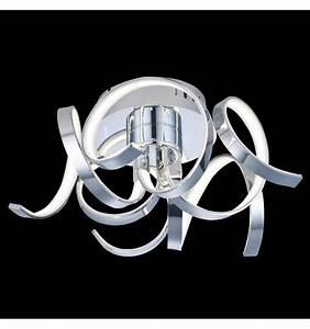 Plafonnier Design Led : plafonnier led design contemporain twister ~ Melissatoandfro.com Idées de Décoration